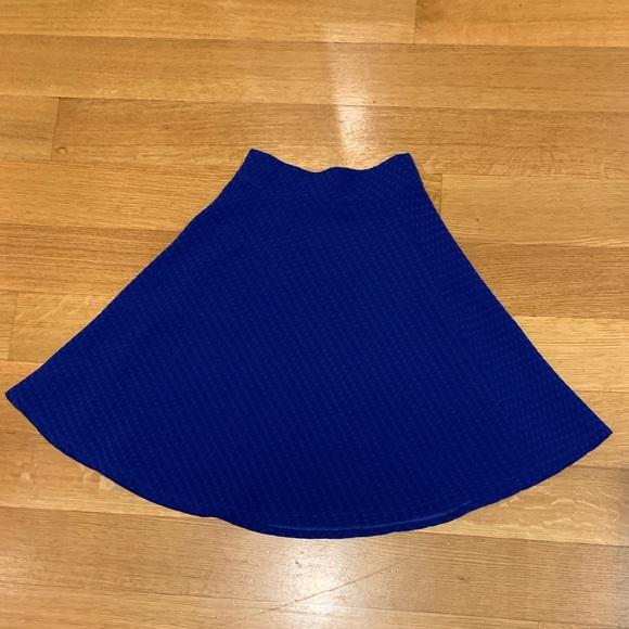 Royal Blue girls Aline skirt size 10-12